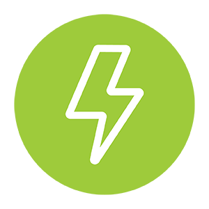 A lightening bolt being used to depict energy