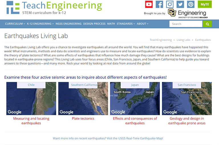 Earthquakes Living Lab The Theory of Plate Tectonics Activity – Plate Tectonics Worksheets for Middle School