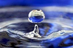 A water drop.