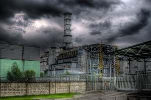 An HDR image of Sarcophagus in the Chernobyl zone.