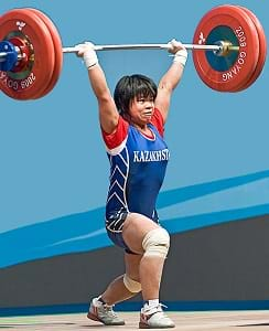 Zulfiya Chinshanlo World Champion 2009 53kg class Kazakhstan in Olympic Weightlifting.