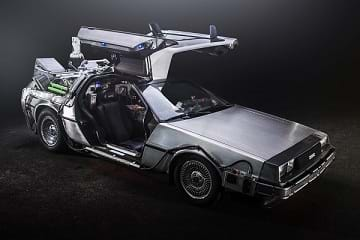 The DeLorean car from Back to the Future.