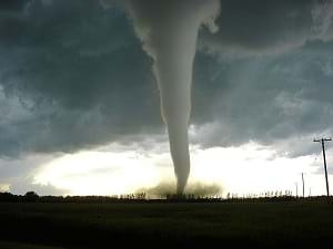 A Category F5 tornado in Elie, Manitoba.