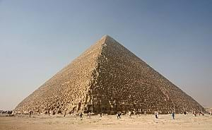 Photograph of the Kheops pyramid in Egypt.