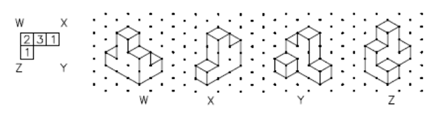 On Triangle Dot Paper To The Right Of A Coded Plan Are Four Different  Isometric