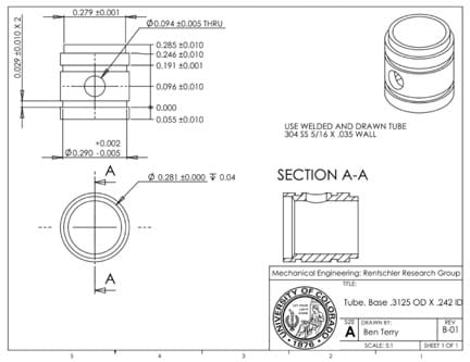 Detail drawings communicating with engineers lesson a detail drawing of a tube base shows the front bottom and isometric views malvernweather Image collections