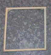 Photo shows a square shape made from four straws taped together.