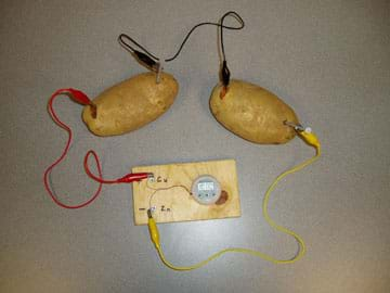 How To Make A Potato Battery Experiment With Electricity