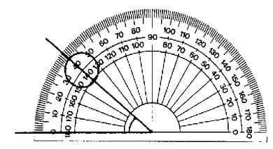 A picture of a protractor.