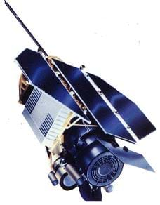 A picture of the Roentgen Satellite, an Earth-Orbiting X-ray Observatory.