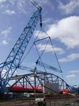 A photograph of the world's largest crane, or a pulley, one of the six simple machines.