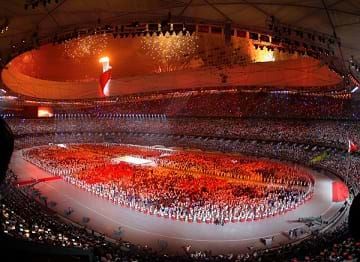 The Opening Ceremony of the 2008 Olympics in Beijing, China.
