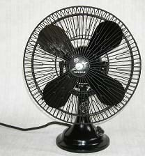 A black Kawasaki electric fan