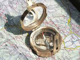 A geological Stanley compass with an inclinometer.