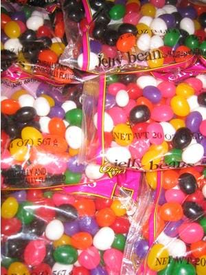 Photo of assorted colored jelly bean candies.