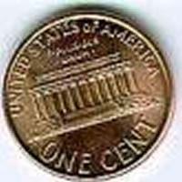 A photograph shows a copper penny: ONE CENT, United States of America.