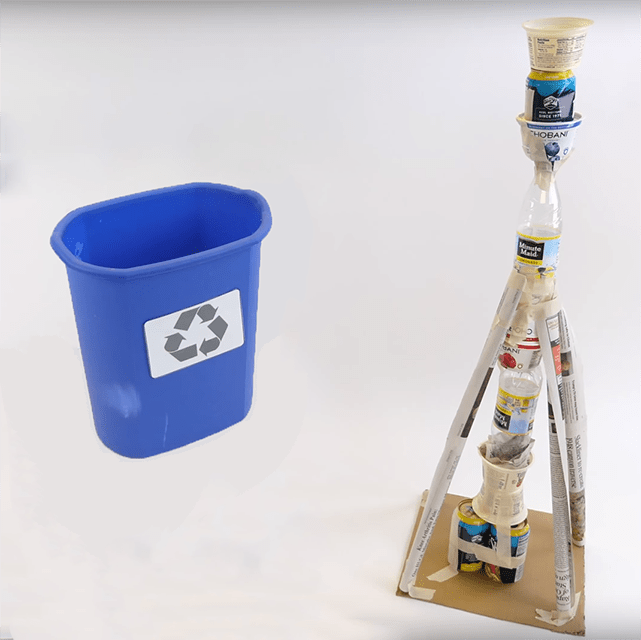 preview of 'Test & Improve: Making Tall & Strong Recycled Towers' Activity