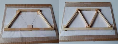 Assembling and gluing diagonal elements with rails.