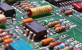 A close-up photograph of an electrical circuit.