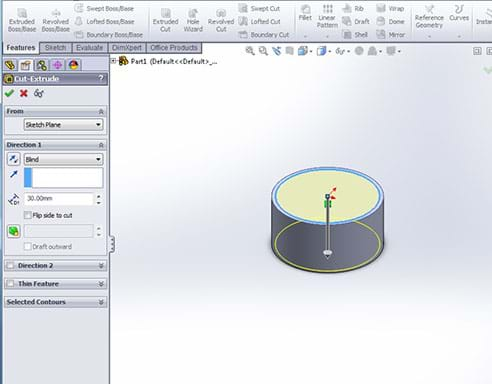 A screenshot of CAD software open on a computer screen shows a 3D model of the cross section of a turkey femur. It looks like a short cylinder, a slice of a bone.