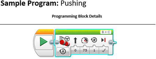 Screenshot shows programming block and details.