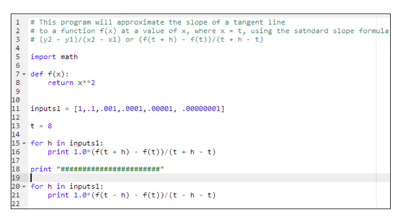 A screen capture image shows lines of computer programming code. Some of the lines of code are lacking comments.