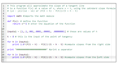 A screen capture image shows lines of computer programming code, just like that in Figure 3, but with all the comments inserted.