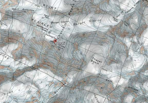 Topographic Map Of A Mountain.Topographic Maps And Ratios A Study Of Denali Activity