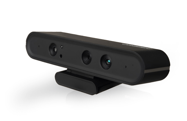 A stock photo shows an Orbbec 3D Astra Pro camera; the device is made of black plastic with one camera and two sensors.