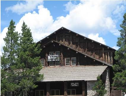 This is an image of Old Faithful Lodge in Yellowstone National Park