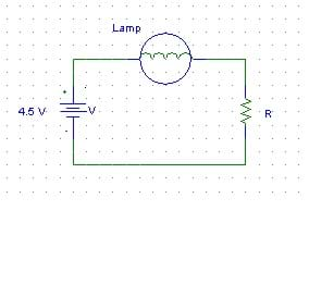 Diagram shows the simple circuit built in this activity.