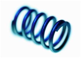 A photograph shows a blue coil representing a solenoid.