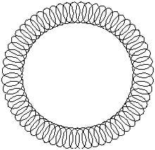 This is a picture of  a donut shaped loop of wire, with smaller loops making up the big loop.