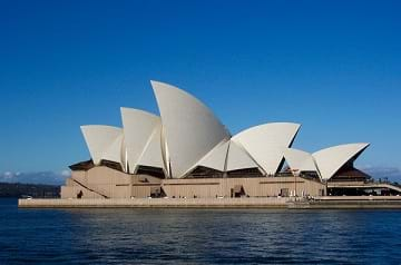 The Sydney Opera House in Australia.