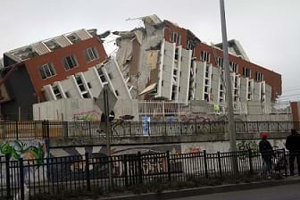 A building destroyed in Concepción during the 2010 Chile Earthquake.