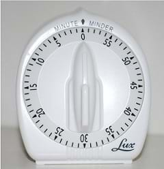 A Lux long ring timer.