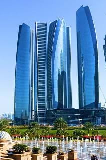 The Etihad Towers in Abu Dhabi.