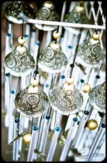 A beautiful decorated wind chime.